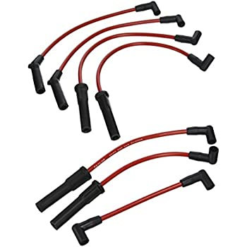 Amazon.com: Taylor Cable 74249 Spiro-Pro Red Spark Plug Wire Set ...