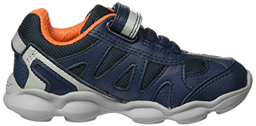 Geox J Munfrey a, Zapatillas para Niños Azul (Navy/silver)