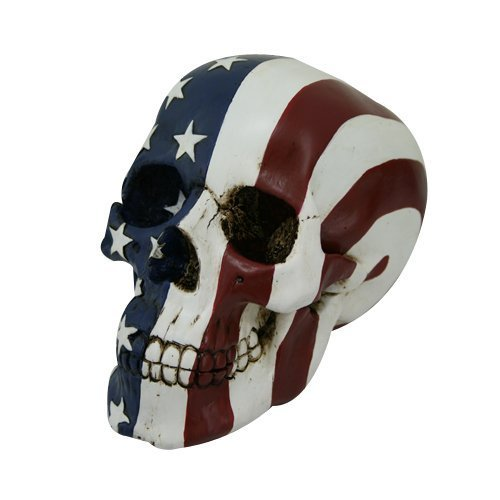 4 Foot Statue (PTC Pacific Giftware Stars and Stripes American Flag Pattern Skull Statue Figurine, 7