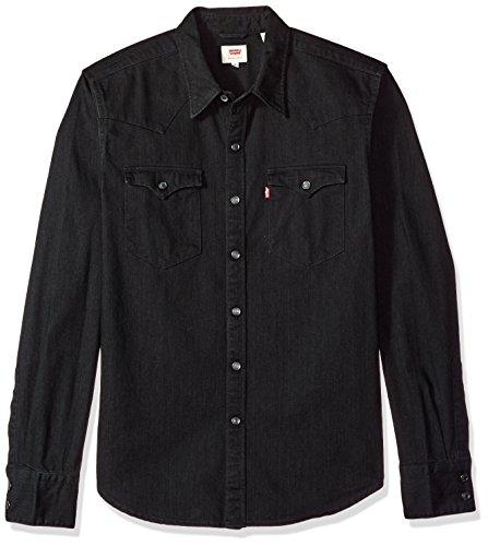 Levi's Men's Barstow Western Shirt, Black, Large