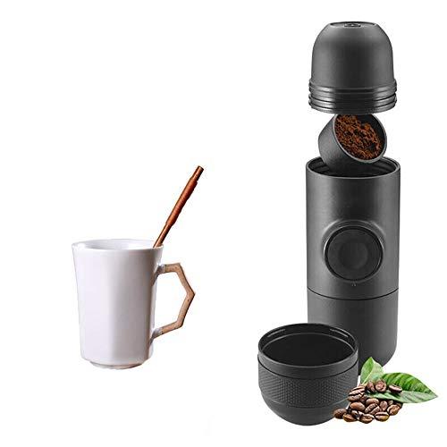 Bishelle Small Travel Coffee Maker Hand Pressure Coffee Machine Manual Coffee Machine Travel Portable Mini Coffee Maker…