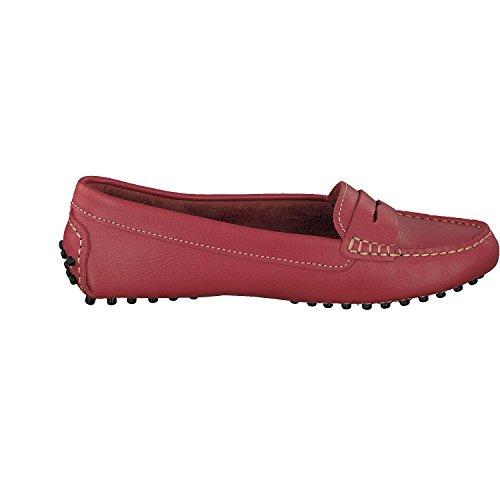 Linea Scarpa Mokassin Porto Damen Leder Rot