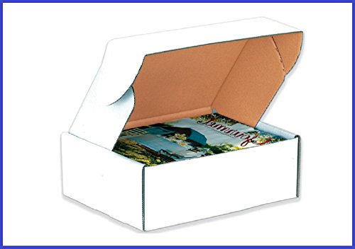 BoxYeah 50 Pack - Tab Lock Deluxe White Literature Mailer Shipping Boxes - 45 Sizes Available - Example (12 x 12 x 3)