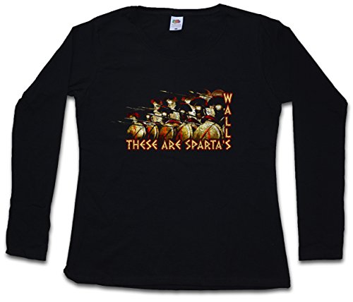 These are SPARTA'S Walls Women Long Sleeve T-Shirt - Phalanx Hoplite Hoplites Sparta Black ()