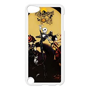 Qxog iPod Touch 5 Case White Kingdom Hearts Halloween Town