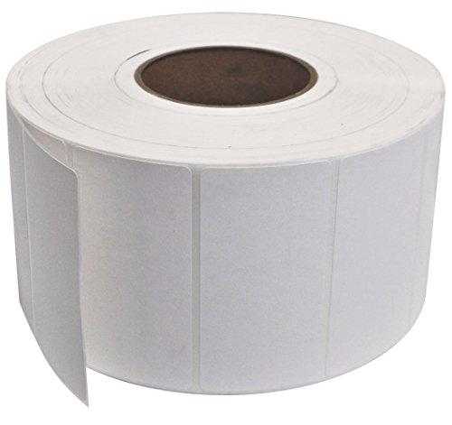 """PM Company Thermal Transfer Label, 4""""x2"""", 3"""" Core, White, 3000 Labels per Roll, 4 Rolls per Carton (42113)"""