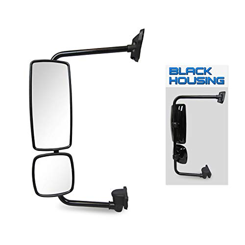 (Optix P.RA Freightliner Columbia - Business Class M2 - Black Driver Side OE Replacement Mirror Assembly - DOT/SAE Approved )