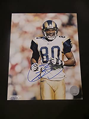 Isaac Bruce Signed Saint Louis Rams Autographed 8x10 Photograph