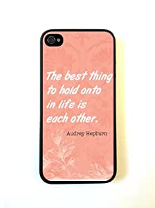 iPhone 5 Case ThinShell Case Protective iPhone 5 Case AUdrey Hepburn Quote Each Other Coral