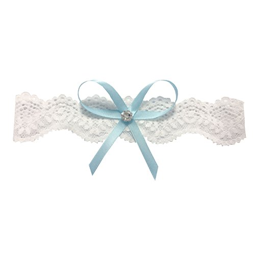 Libaosha Vintage Stretchable Garters with Bowknot Lace Wedding Garter for Bride ()