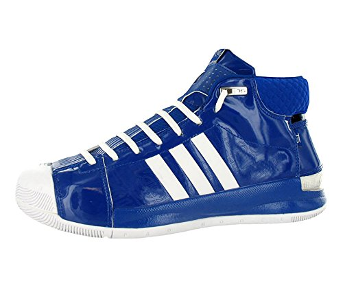 Leather Patent Adidas - Adidas AST TS Pro Model Player Men's Basketball Shoes Size US 16, Regular Width, Color White/Royal