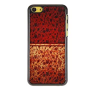 Mini - Black Roses Pattern PC Hard Case with 3 Packed HD Screen Protectors for iPhone 5C