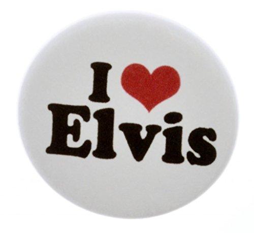 A&T Designs Unisex - I Love Elvis 1.25