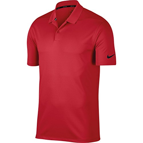 Nike Mens Knit Vest - Nike Mens Victory Polo Solid Shirt (L) (University Red/Black)