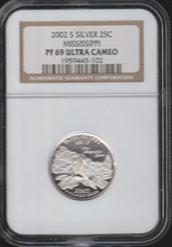 2002 S Washington State Quarter Mississippi Quarter PF-69 Ultra Cameo NGC ()