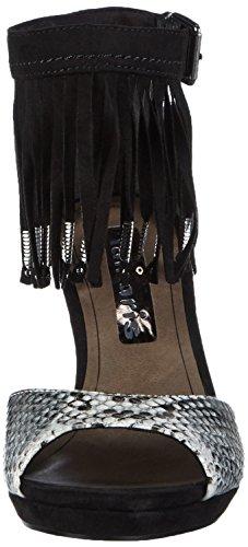 Bride Sandales Femme Comb Tamaris 098 Mehrfarbig Black Multicolore 28393 Cheville wqOxxav