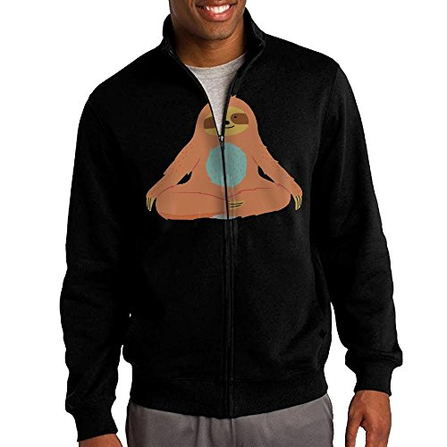The Town Movie Skull Costumes (Men's Yoga For Sloths Solid Stand Collar Zipper Jacket Size L)