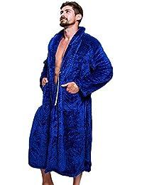 Womens Men s Winter Spa Bathrobe - Shawl Collar Soft Coral Plush Kimono Long  Thicken Bath Robe 701247037
