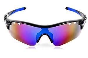 Hulislem Blade Sport Polarized Sunglasses, Revo Blue - Matteblack