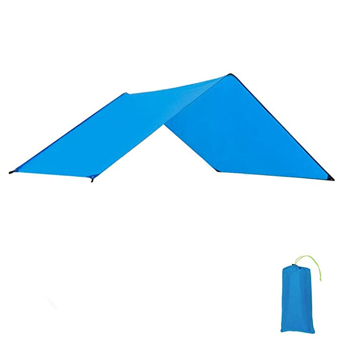 Geertop Waterproof Lightweight Tent Floor Footprint Tarp Rain Fly Sun Shelter Sunshade Mat and Ground Sheet for Outdoor Camping Backpacking Hiking Hammock