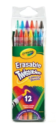 (Crayola Twistables Erasable Colored Pencils, Assorted Colors (12-Pack))