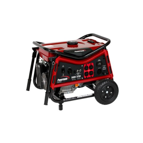 Powermate PMC103007, 3000 Running Watts/3750 Starting Watts, Gas Powered Portable Generator