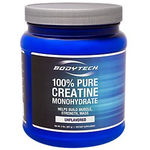 BodyTech 100 Pure Creatine Monohydrate 5GM Unflavored (32 Ounce Powder) by The Vitamin Shoppe by BODYTECH