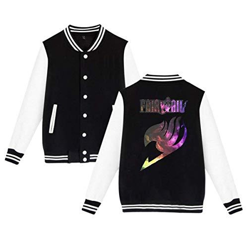 KissKid Fairy Tail Adults Baseball Uniform Jacket Sport Coat XS ()