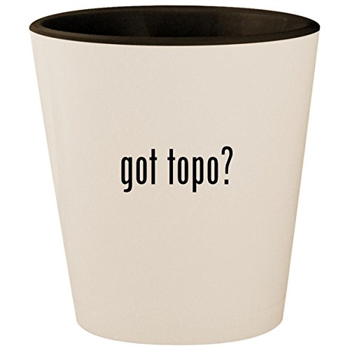 got topo? - White Outer & Black Inner Ceramic 1.5oz Shot Glass -