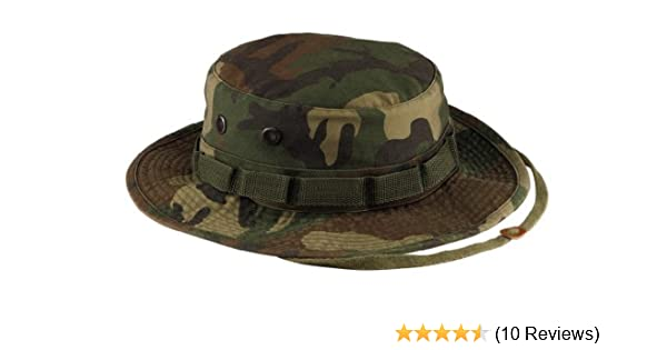 Amazon.com  5900 Vintage Woodland Camo Boonie Hat (7.25)  Military Apparel  Accessories  Clothing a5f966318fb