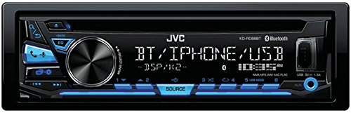 JVC KD-RD88BT Single DIN Bluetooth in-Dash CD/AM/FM Car Ster