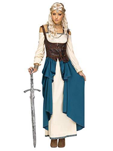 Fun World Women's Viking Queencostume, Multi, Medium/Large