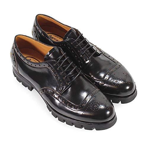 Cuero Zapatos Mujer Cordones De Negro Bd0991 Barracuda SwPqtAw