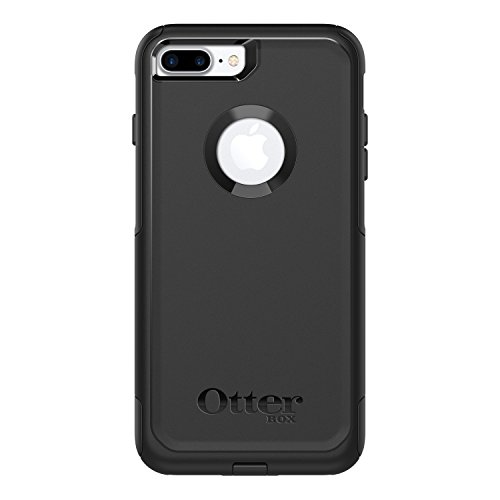 OtterBox COMMUTER SERIES Case for iPhone 8 Plus & iPhone 7 Plus (ONLY) - Frustration Free Packaging - BLACK