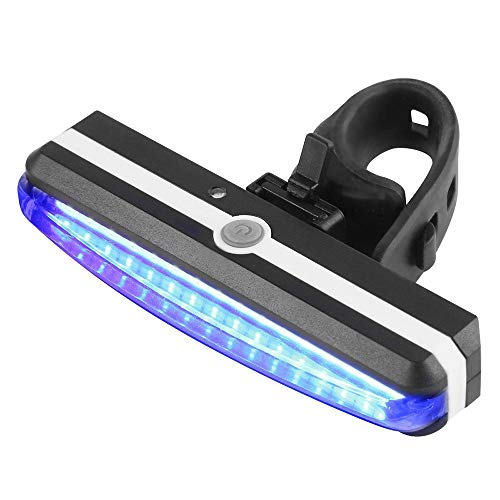 Price comparison product image Buybuybuy Sport LED Rear Bike Light USB Rechargeable - Ultra Bright Powerful Safety Taillight,  6 Light Mode Options,  One Touch Mount and Dismount,  IPX4 Waterproof,  for all Bikes (blue)