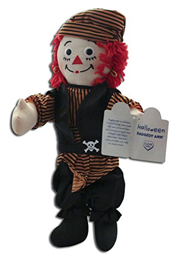 Halloween Raggedy Ann Pirate Rag Doll ()