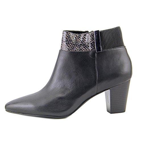 Alfani Palessa, Fashion Stiefel Frauen, Pumps rund, Leder Schwarz