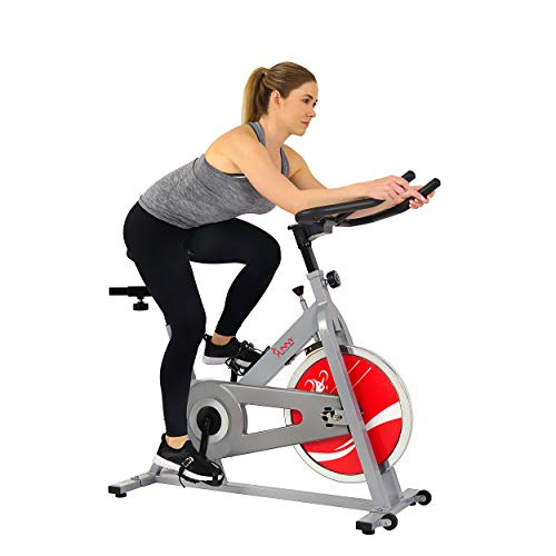 Sunny Health & Fitness SF-B1001S Indoor Cycling Bike, Silver by Sunny Health & Fitness (Image #3)