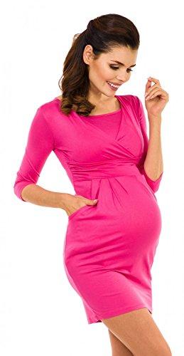 Zeta Ville Premamá - Vestido de lactancia efecto 2 en 1 - para mujer - 252c Fucsia