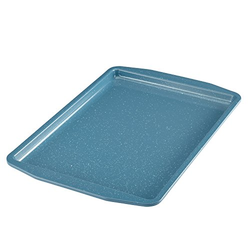Paula Deen Speckle Nonstick Bakeware 11-Inch x 17-Inch Cookie Pan, Gulf Blue Speckle