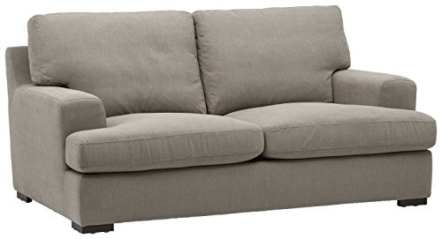 "Stone & Beam Lauren Down-Filled Oversized Loveseat with Hardwood Frame, 74""W, Slate"