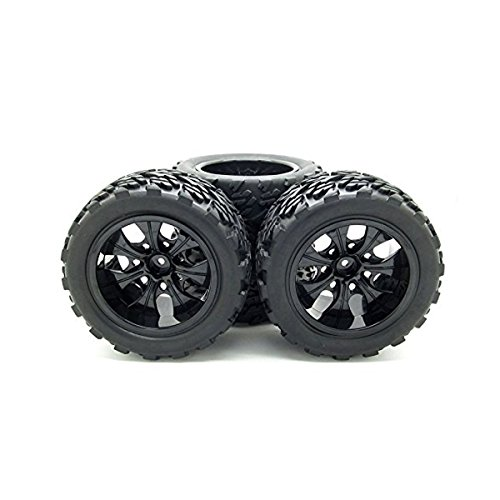 JIUWU 1:10 Rc Monster Truck Car Wheel Type Tires with 7 Spokes Wheel Rim Blac, Scientific Toys, 2018