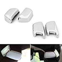 Areyourshop 4Pcs Chrome ABS Rear Seat Safety Belt Buckle Cover Trim For Jeep Wrangler Jeep Wrangler 2008-2016