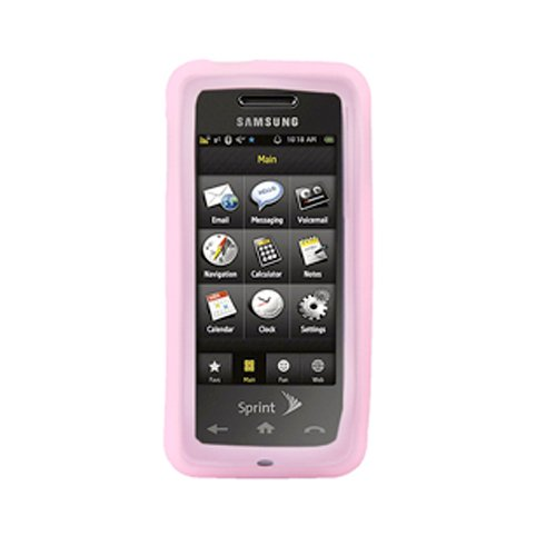 Silicone Cover - Samsung Instinct M800 - Pink M800 Cover Case
