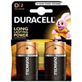 Duracell D Type Battery (Pack of 2)