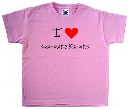 i-love-heart-chocolate-biscuits-pink-kids-t-shirt-black-print-14-15-years