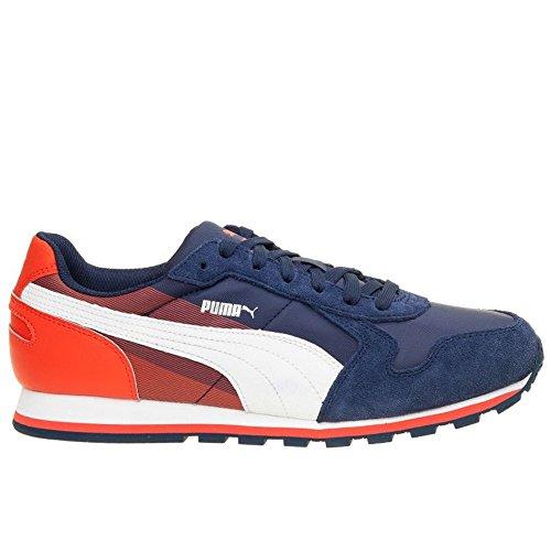 Puma - ST Runner NL Geometry - Color: Arancione-Bianco-Blu marino - Size: 45.0
