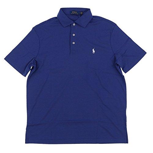 Polo Ralph Lauren Mens Interlock Polo Shirt (Small, Charter Blue)