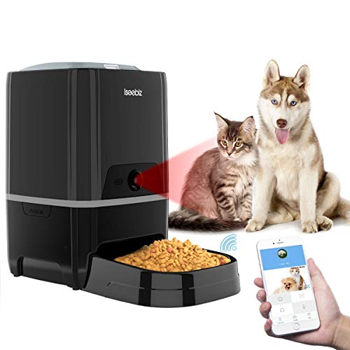 Comedero Automático Gatos/Perros con Cámara HD Dispensador de Comida WiFi con App Control 21