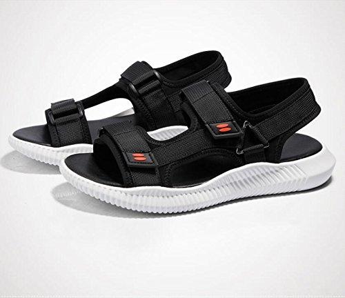 ZFNYY Herren Sandalen Outdoor Sports Sandalen Sommer Koreanische Trends schwarz Klettverschluss Jugend Casual Sandalen schwarz Trends 307edc